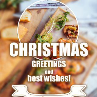 浪漫圣诞节餐厅促销菜单