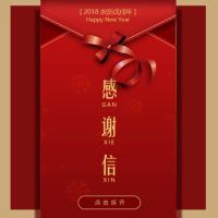 元旦春节圣诞元宵节日企业员工个人感谢信祝福贺卡