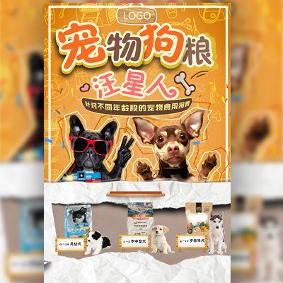 简约卡通 宠物狗粮食品宣传促销 宠物食品介绍