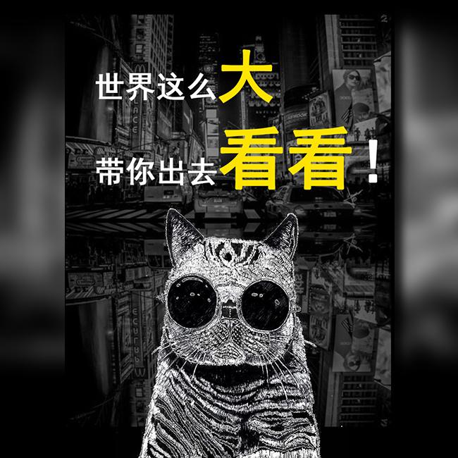 炫酷快闪旅游旅行社宣传推广