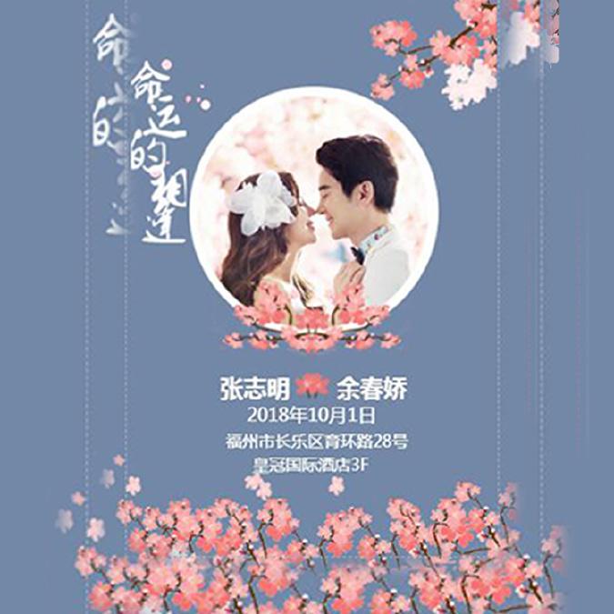 小清新时尚浪漫婚礼邀请函婚礼请柬旅游相册闺蜜相册
