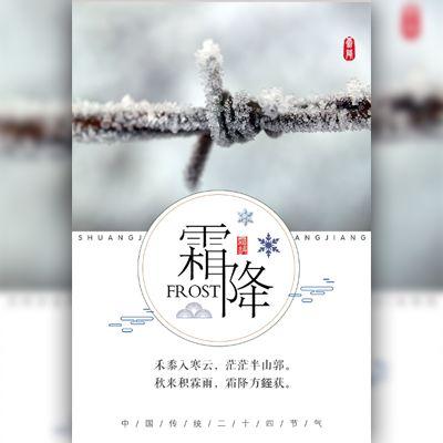霜降节气介绍二十四节气自媒体宣传推广