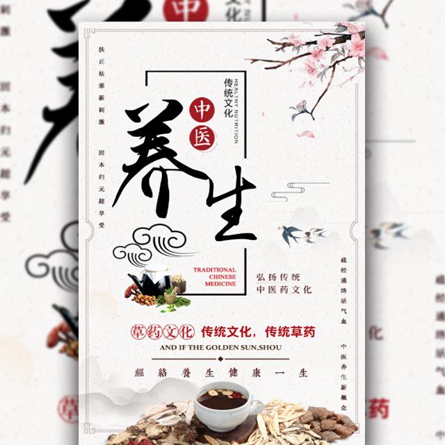 传统文化中国风中医养生时尚宣传