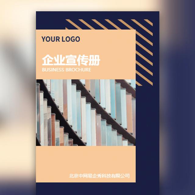 蓝金简约商务通用企业宣传公司介绍宣传画册