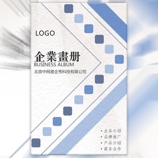 精美商务简约蓝公司简介企业宣传产品画册品牌推广