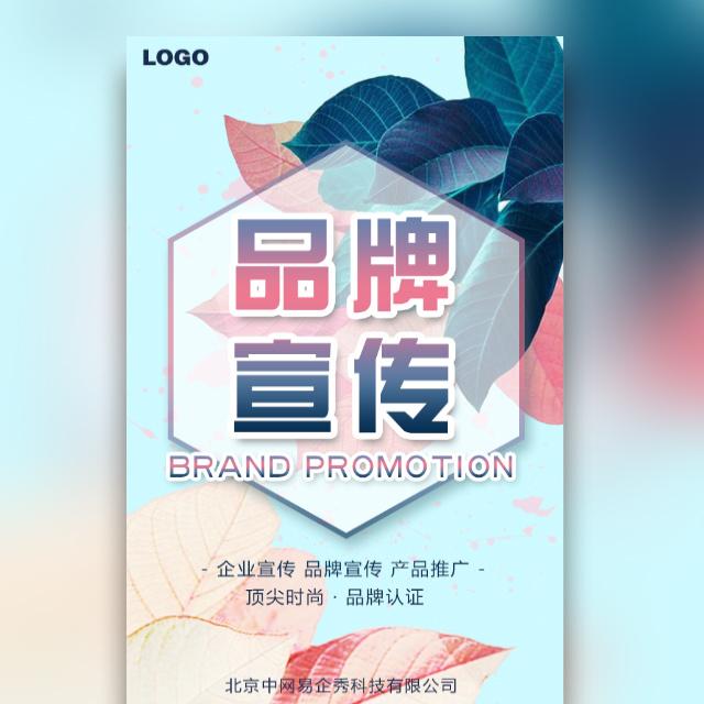 高端时尚清新炫彩叶子企业宣传产品推广品牌宣传推广