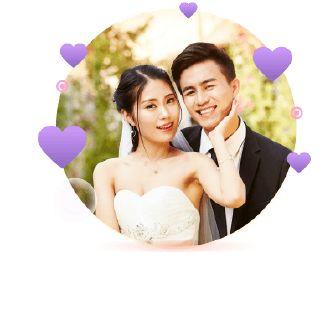 高端花系韩式婚礼请柬邀请函