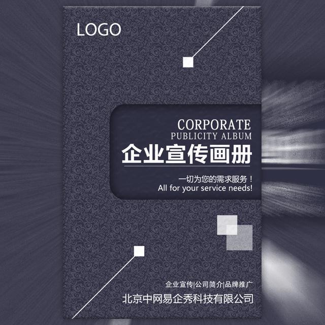 高端商务蓝企业宣传画册公司简介企业文化品牌推广