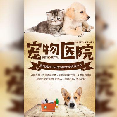 宠物医院宠物诊所开业宣传活动促销宠物用品介绍