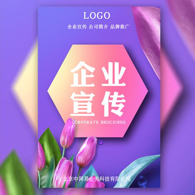 清新淡雅时尚企业宣传画册