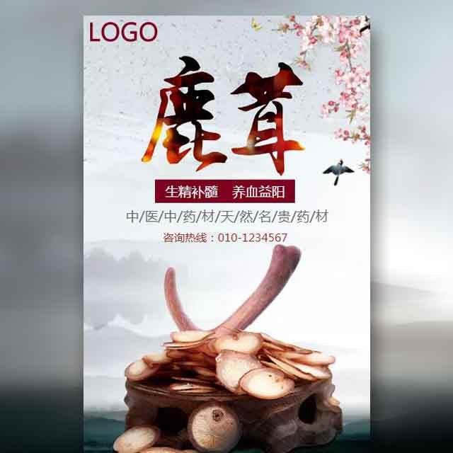 中药材鹿茸产品推广宣传模板