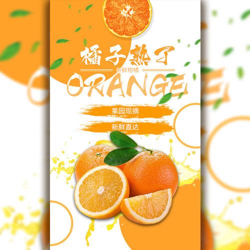 橘子熟了柑橘橙子促销水果店