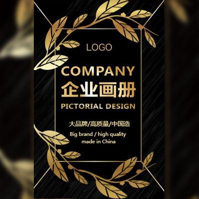 高端黑金商务企业宣传画册公司介绍公司宣传画册