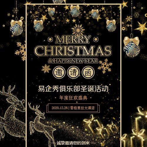 圣诞节狂欢夜活动邀请函