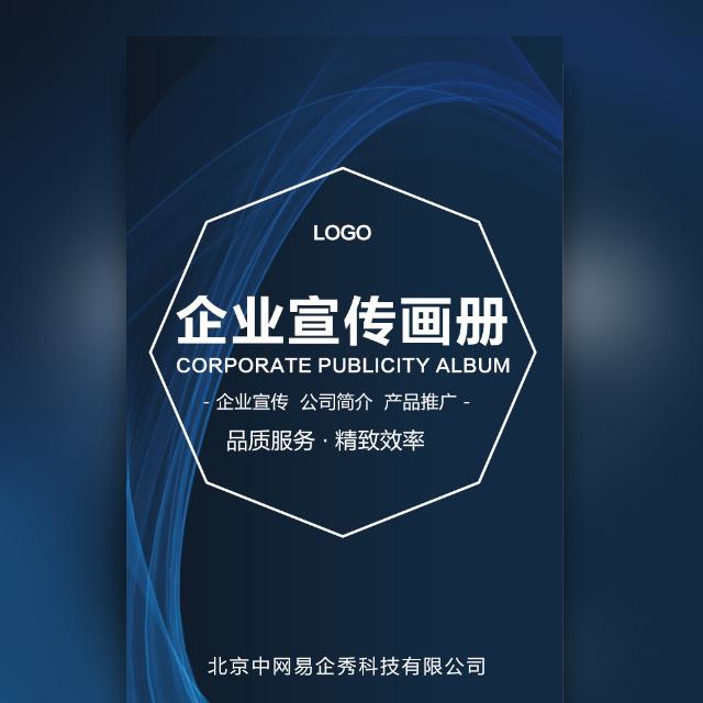 高端时尚简约商务蓝企业宣传公司简介产品推广宣传册