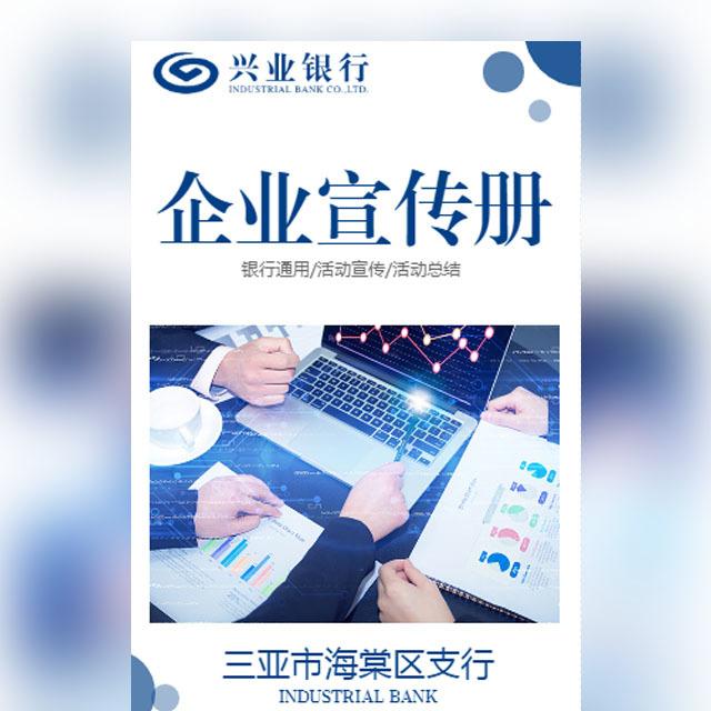 兴业银行银行工作总结工行商务企业画册公司