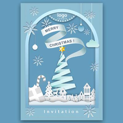 冰雪世界圣诞节主题活动邀请函