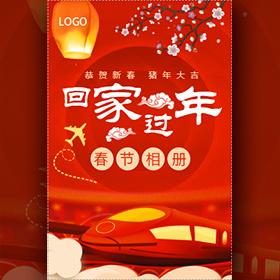 回家过年春节个人祝福贺卡相册