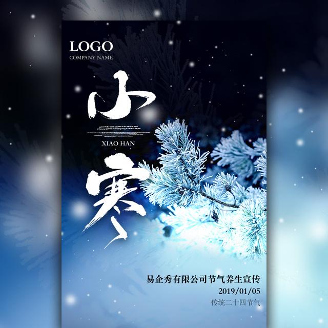 中国传统二十四节气小寒宣传