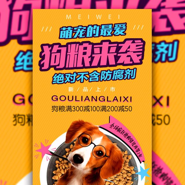 狗粮来袭宠物店狗粮促销时尚宣传