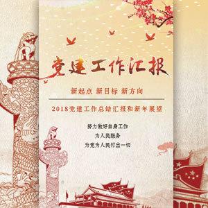 2018党建工作汇报工作总结党建新年祝福政府宣传