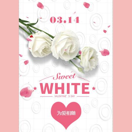 520表白恋爱表白白色情人节表白
