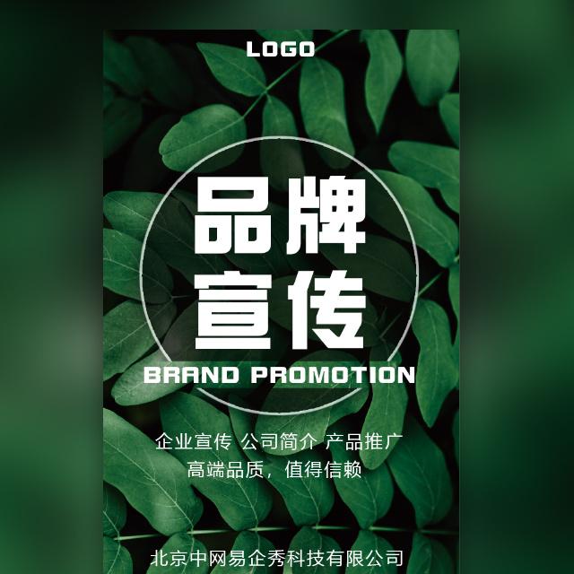 高端时尚清新绿叶企业宣传产品推广品牌宣传推广