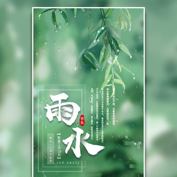 雨水中国传统24节气养生