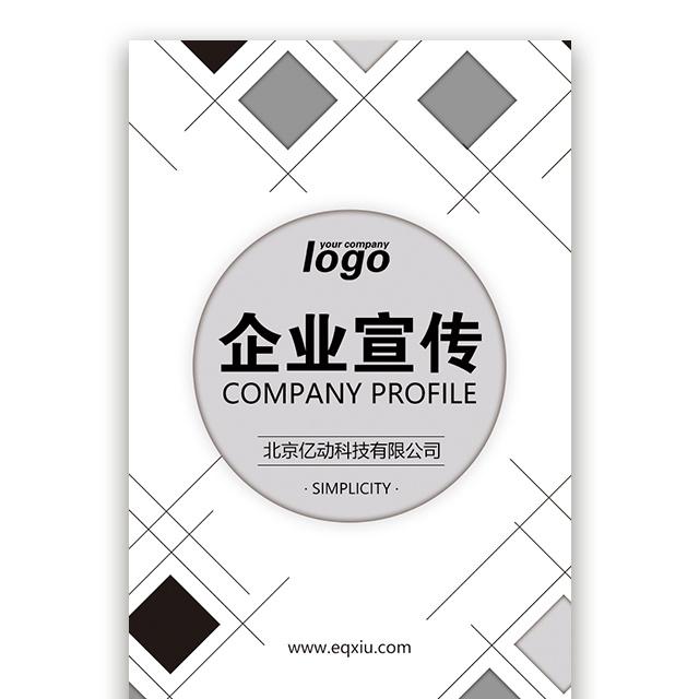 黑白简约企业宣传公司简介广告传媒公司简介宣传招聘